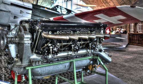 Canvas Print Motor eines Flugzeugs