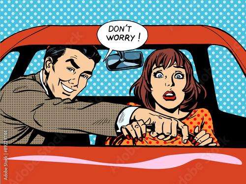 Driving school driver woman car #89229744