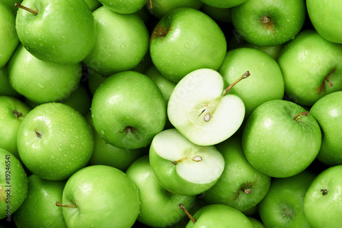 Foto Granny smith apple background
