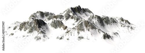Snowy Mountains - Mountain Peak - separated on white background #89337947