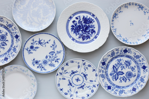 Fotografia Vintage blue plates