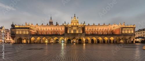 Cloth-hall (Sukiennice) in Krakow beautifully illuminated in early morning #89500731
