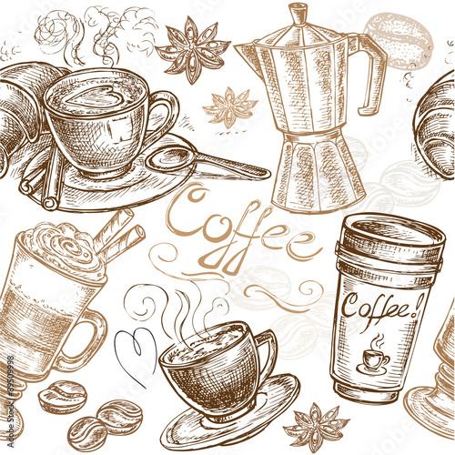 seamless pattern coffee #89509998
