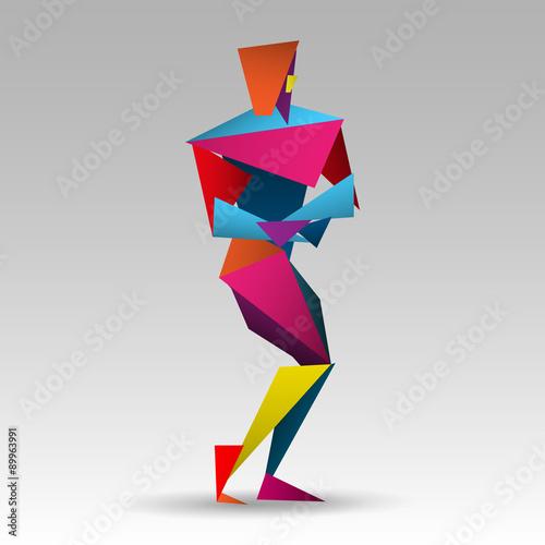 Fototapeta premium kulturysta origami wektor