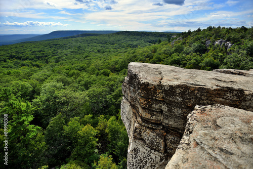 Fotografie, Tablou Massive rocks and view to the valley at Minnewaska State Park Reserve Upstate NY