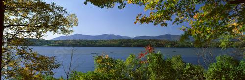 Hudson River In Autumn, Rhinebeck, New York #90084520