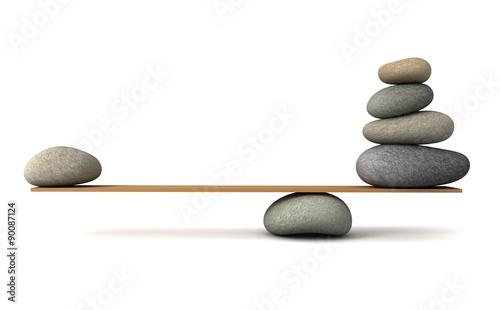 Slika na platnu balancing stones
