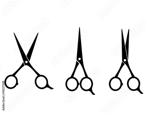 Canvas Print isolated cutting scissors