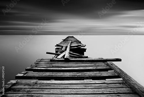 Black and white Long Exposure shot Fotobehang