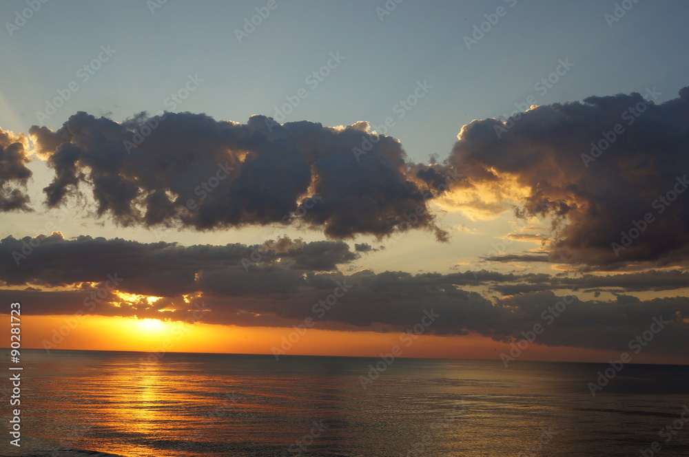 Obraz Sun set fototapeta, plakat
