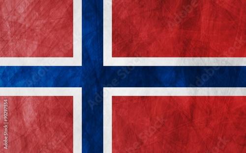 Wallpaper Mural Grunge flag Norway