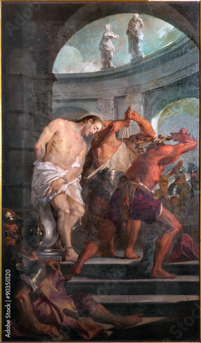 Fotografia Padua - Paint of the Flagellation of Jesus