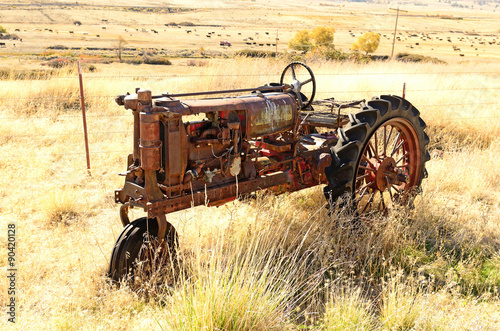 Canvas Print Old Tractor