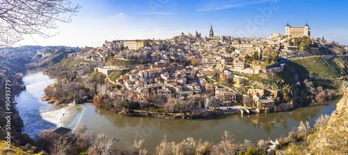 panoramic view of beautiful medieval Toledo, Spain. UNESCO site