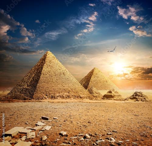 Sunset over pyramids #90566146