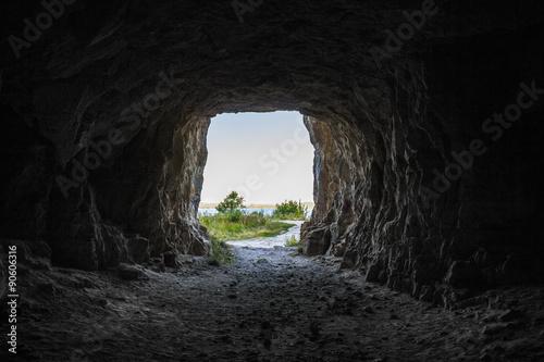 Billede på lærred entrance to the cave