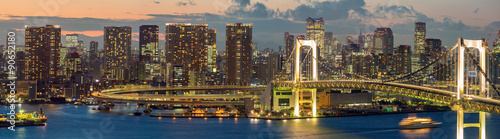 Obraz na płótnie Tokyo Tower Rainbow Bridge