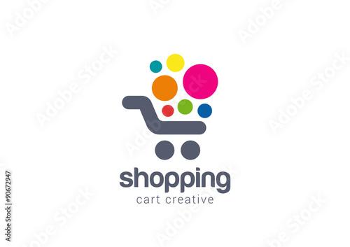 Fotomural Shopping cart Logo design vector concept icon