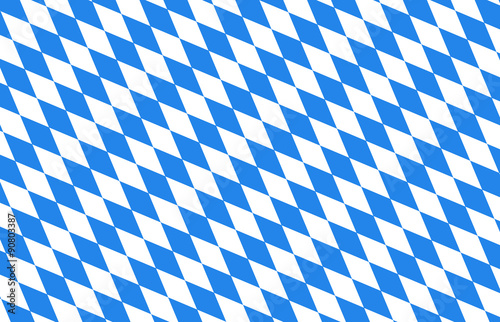 Fototapeta Bayern Rauten blau Hintergrund Oktoberfest