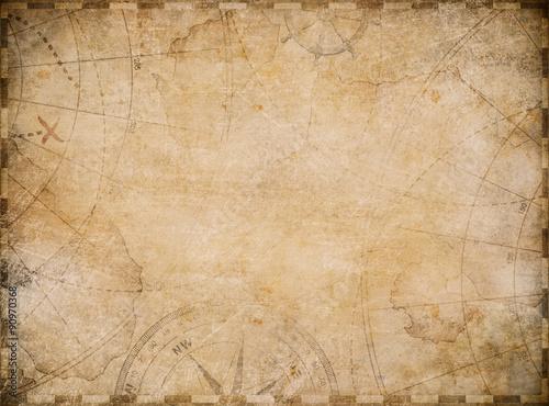 stare tło mapy morskie