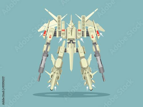 Photo Military robot transformer