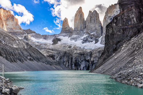 The Towers, Torres del Paine National Park, Chile Fototapet