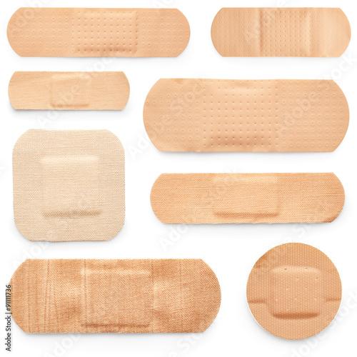 Set of adhesive plasters Fototapet