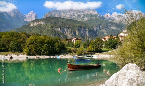Tableau sur Toile Molveno, Dolomiten