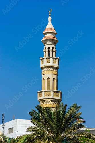 Photo The minaret of a mosque