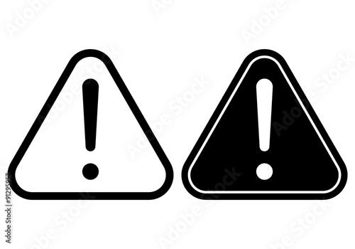 Fotografie, Obraz Danger warning attention hazard sign. Vector icon