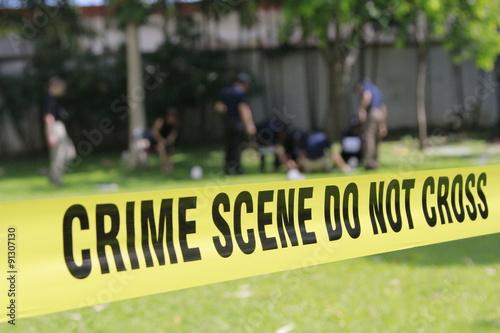 Canvas-taulu crime scene