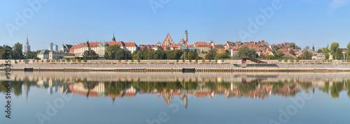 Warszawa, panorama Starego Miasta #91325543