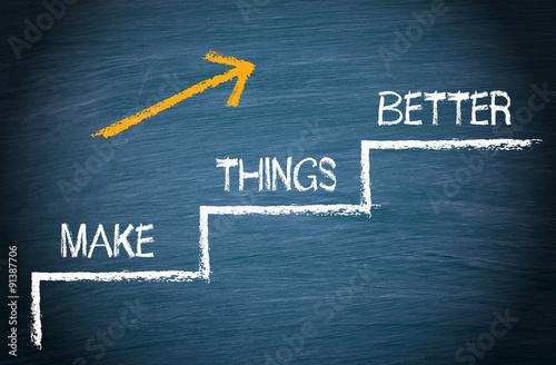Make Things Better - Growth and Improvement Fototapeta