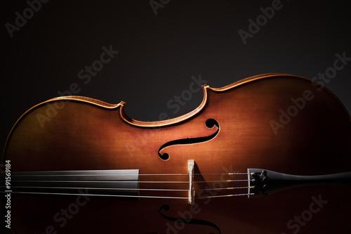 Fotografija Cello silhouette
