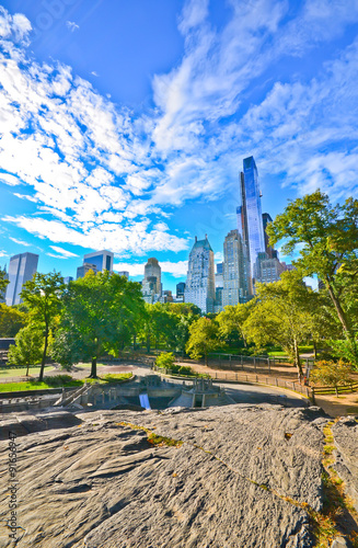 Photographie View of Central Park in a sunny day in New York City.