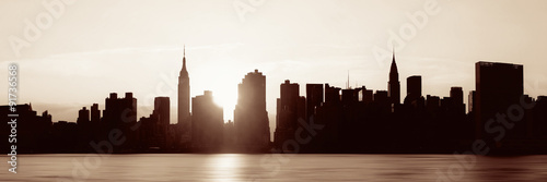 New York City silhouette #91736568
