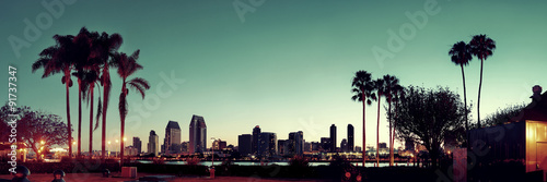 San Diego Morgen Fototapete
