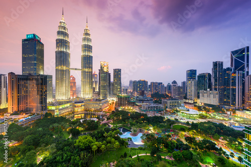 Wallpaper Mural Kuala Lumpur Skyline