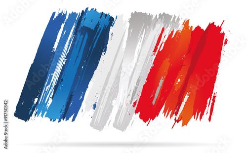 Tablou Canvas drapeau français, de la france