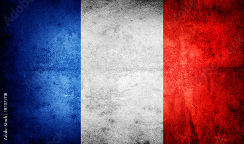 Photo Grunge Flag Of France