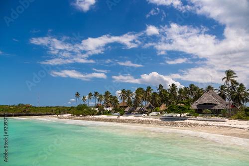 Beautiful blue sea in Zanzibar, Tanzania, Africa #92093170