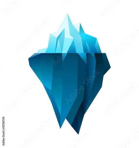 Tablou Canvas iceberg on white