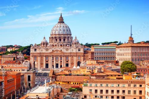 Obraz na płótnie Vatican City. St. Peter's Basilica and Vatican museums.
