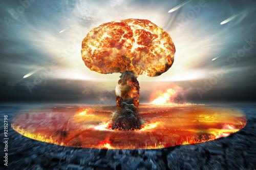 Wallpaper Mural Nuclear Atomic War