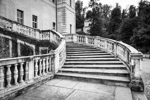 Old marble staircase #92184398