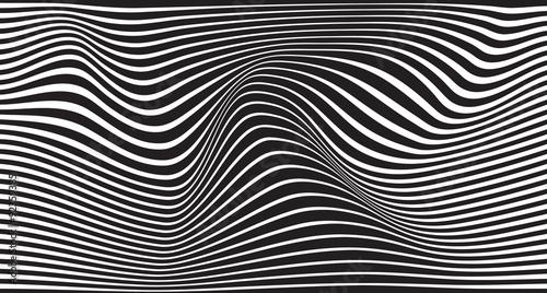 Fototapeta premium czarno-biały falisty pasek optyczny