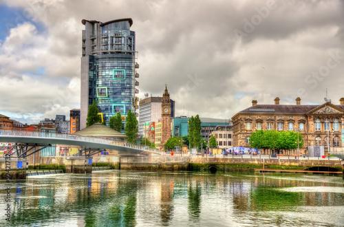 View of Belfast with the river Lagan - United Kingdom Fototapeta