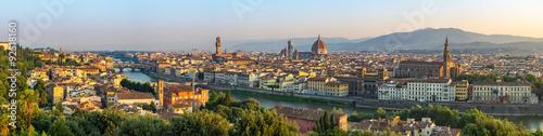Fotografiet Florence city skyline panorama - Florence - Italy