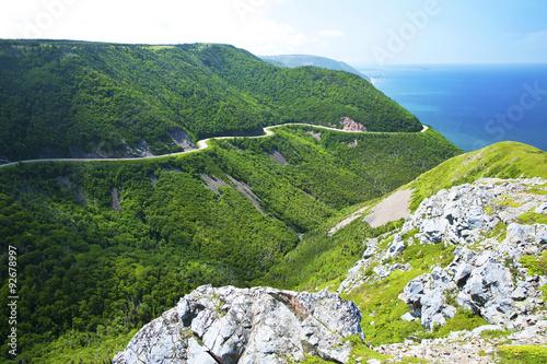 Obraz na płótnie Cabot Trail from from Skyline in Nova Scotia, Canada