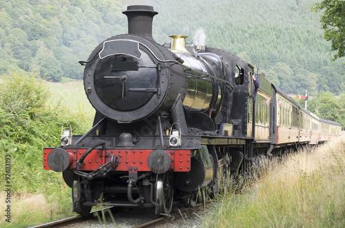 Steam Train pulling Passenger Service in the Uk Fototapeta